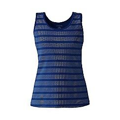 Lands' End - Blue petite patterned cotton vest top