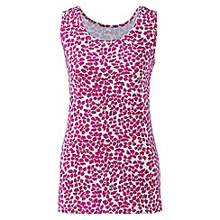 Lands' End - Petite Pink patterned cotton vest top
