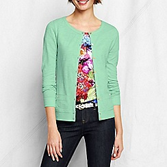 Lands' End - Green women's lightweight slub cardigan