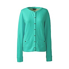 Lands' End - Green lightweight slub cardigan