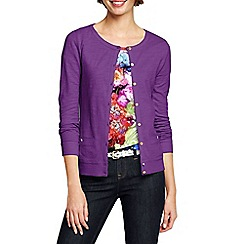 Lands' End - Purple women's lightweight slub cardigan