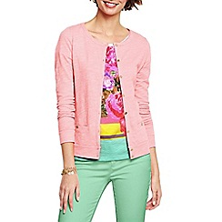 Lands' End - Pink women's lightweight slub cardigan