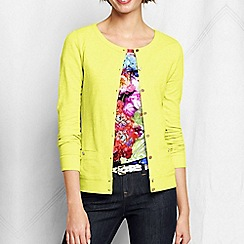 Lands' End - Yellow women's plus lightweight slub cardigan