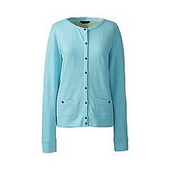 Lands' End - Plus size Blue plus lightweight slub cardigan