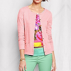 Lands' End - Pink women's plus lightweight slub cardigan