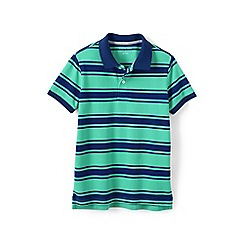 Lands' End - Green boys mesh polo
