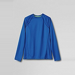 Lands' End - Blue men's long sleeve active tee