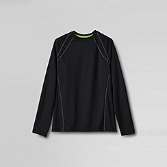 Lands' End - Black men's long sleeve active tee
