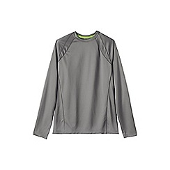 Lands' End - Grey men's long sleeve active tee