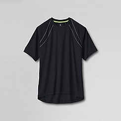 Lands' End - Black men's short sleeve active tee