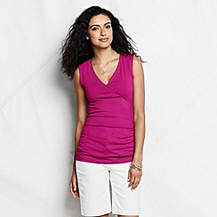 Lands' End - Pink women's petite sleeveless cotton/modal top
