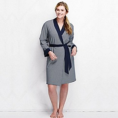 Lands' End - Blue women's reversible jersey dressing gown