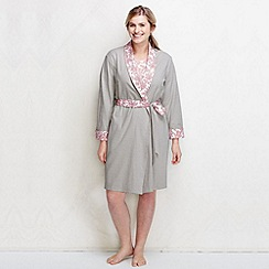 Lands' End - Pink plus reversible jersey dressing gown