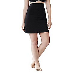 Lands' End - Black women's plus size beach living full coverage control swimmini