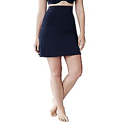 Lands' End - Blue women's plus size beach living full coverage control swimmini