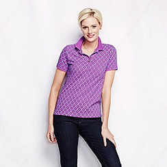 Lands' End - Purple women's short sleeve print piquea cute; polo