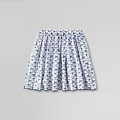 Lands' End - Blue girls' broderie anglais twirl skirt