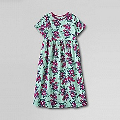 Lands' End - Multi girls' short sleeve gathered jersey dress