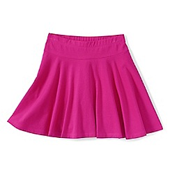 Lands' End - Girls Toddler Purple plain jersey twirl skort