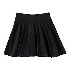 Lands' End - Black little girls' plain jersey twirl skort