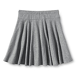 Lands' End - Grey girls' plain jersey twirl skort
