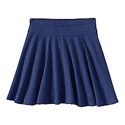 Lands' End - Blue girls' plain jersey twirl skort