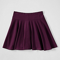 Lands' End - Purple little girls' plain jersey twirl skort