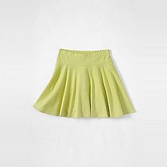 Lands' End - Lime green girls' plain jersey twirl skort
