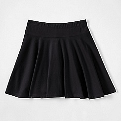 Lands' End - Black girls' plain jersey twirl skort