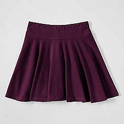 Lands' End - Purple girls' plain jersey twirl skort