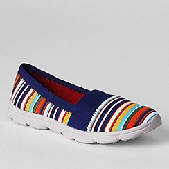 Lands' End - Multi women's wide alpargata slip-on shoes