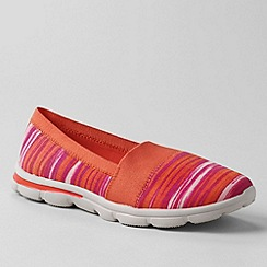 Lands' End - Orange women's alpargata slip-on shoes