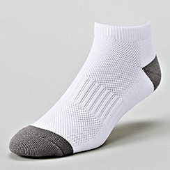 Lands' End - White men's performance athletic no show sock