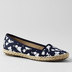 Lands' End - Blue women's devi espadrilles