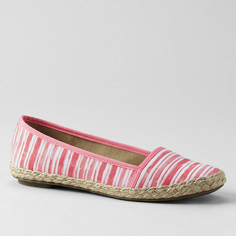 Lands+ End - Pink women+s devi espadrilles