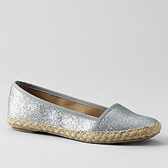 Lands' End - Grey women's devi espadrilles