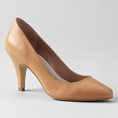 Lands' End - Brown women's court shoes