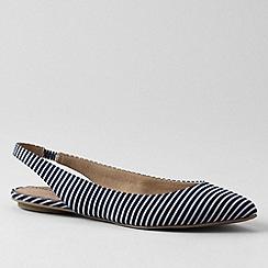 Lands' End - Deep sea stripe womens lucy slingback shoes