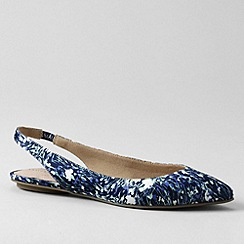Lands' End - Blue women's lucy slingback shoes