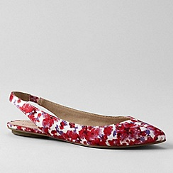 Lands' End - Red women's lucy slingback shoes