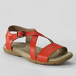 Lands' End - Orange women's terrain sandals