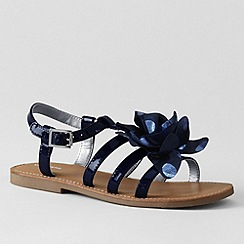 Lands' End - Blue girls' arabella flower sandals