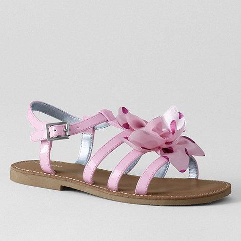 Lands+ End - Pink girls+ arabella flower sandals
