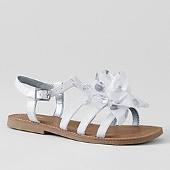 Lands' End - White girls' arabella flower sandals