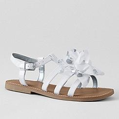 Lands' End - White girls' arabella flower sandals