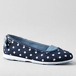 Lands' End - Blue girls' alpargata bow slip-on shoes