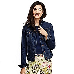 Lands' End - Blue women's regular indigo denim jacket