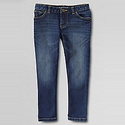 Lands' End - Girls' blue denim five-pocket capris
