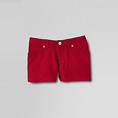 Lands' End - Red girls' coloured denim shorts