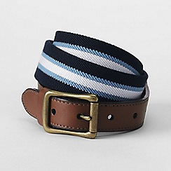 Lands' End - Blue men's club stripe elastic belt